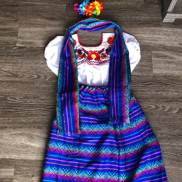 Mexican Girls Dress 10t Vestido Mexicano